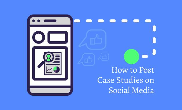 Vector art illustration for the concept of posting Case Studies on social media for the article How to Post Case Studies on Social Media