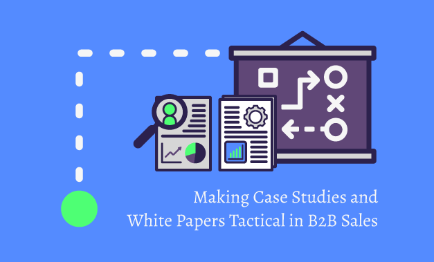 """Vector illustration for the blog article """"Making Case Studies and White Papers Tactical in B2B Sales"""""""