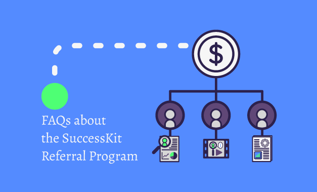 Vector illustration for the blog post FAQs about the SuccessKit Referral Program