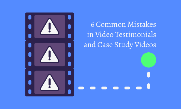 """Vector art illustration for the article """"6 Common Mistakes in Video Testimonials and Case Study Videos"""""""